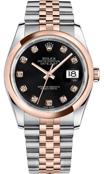replique Montre Rolex Datejust 36 Black Diamond 116201