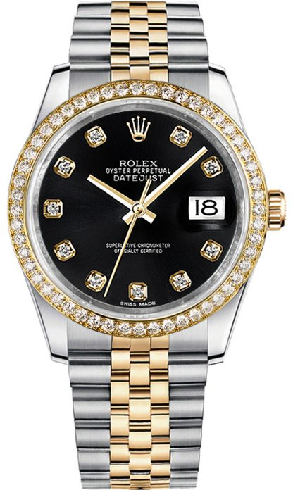 replique Montre Rolex Datejust 36 Black Diamond 116243