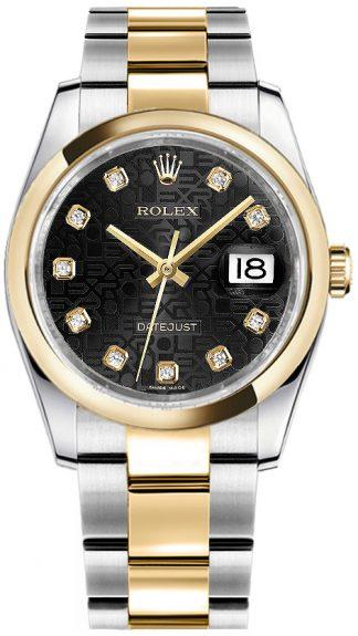 replique Montre Rolex Datejust 36 Black Diamond Jubilee 116203