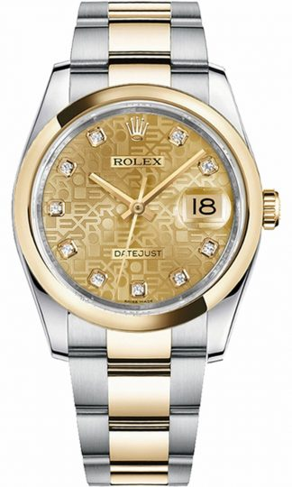 replique Montre Rolex Datejust 36 Champagne Diamond Jubilee 116203