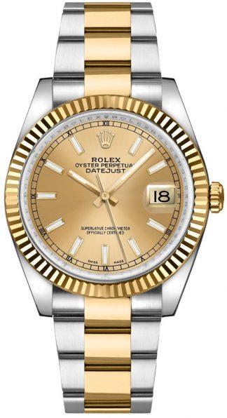 replique Montre Rolex Datejust 36 Oyster Bracelet Acier & Or 116233