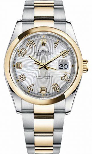 replique Montre Rolex Datejust 36 Oyster Bracelet Or et Acier 116203