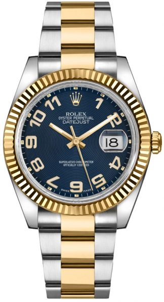 replique Montre Rolex Datejust 36 Oyster Bracelet Or et Acier 116233