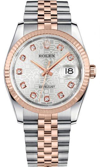 replique Montre Rolex Datejust 36 Silver Diamond Jubilee 116231