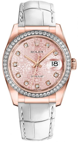 replique Montre Rolex Datejust 36 cadran rose 116185