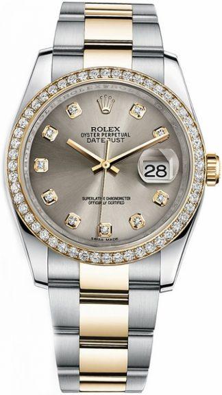 replique Montre Rolex Datejust 36 en acier et or 116243