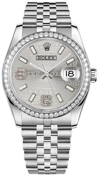 replique Montre Rolex Datejust 36 en or blanc massif 18 carats et acier 116244