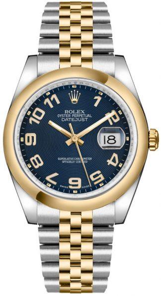 replique Montre Rolex Datejust 36 en or et acier 116203
