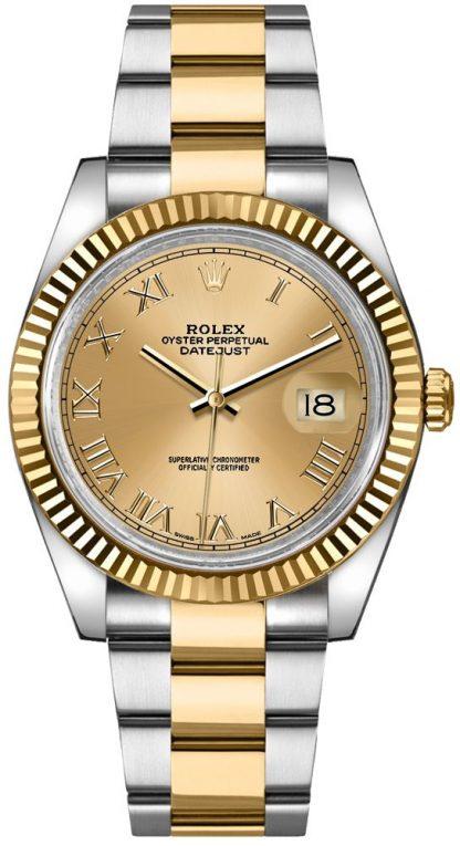 replique Montre Rolex Datejust 36 en or jaune et acier 116233