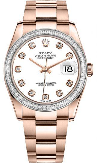 replique Montre Rolex Datejust 36 en or rose 116285BBR