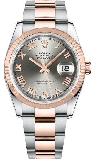 replique Montre Rolex Datejust 36 en or rose et acier 116231