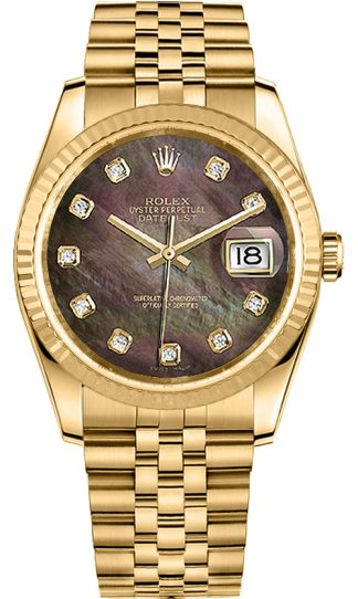 replique Montre Rolex Datejust 36 lunette cannelée 116238