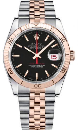 replique Montre Rolex Datejust 36 pour homme en or rose et acier 116261
