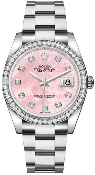 replique Montre Rolex Datejust 36 rose nacre diamant 116244