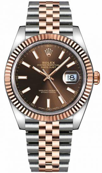 replique Montre Rolex Datejust 41 automatique en or rose et acier 126331