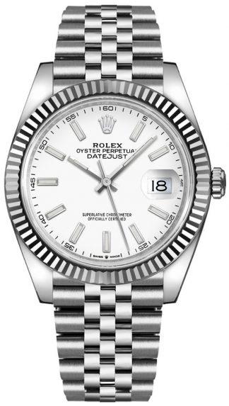 replique Montre Rolex Datejust 41 en or blanc et acier 126334