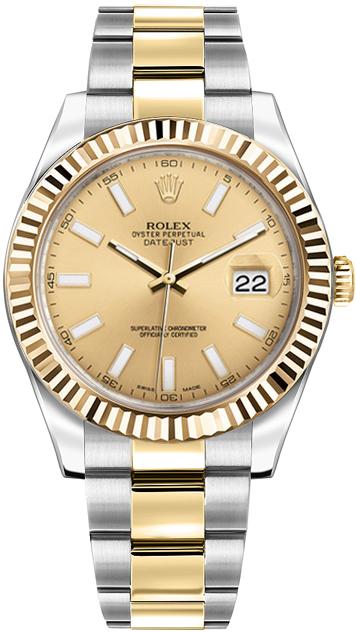 replique Montre Rolex Datejust II 41 en acier inoxydable et or jaune 116333