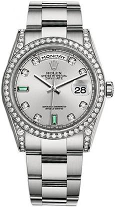 replique Montre Rolex Day-Date 36 Diamond Emerald Gold 118389