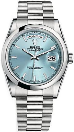 replique Montre Rolex Day-Date 36 Ice Blue Dial 118206