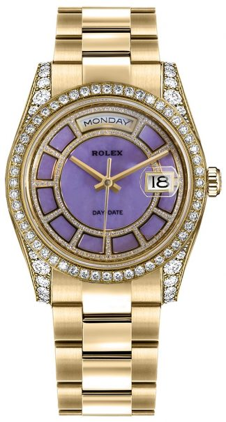 replique Montre Rolex Day-Date 36 Lavender Dial 118388
