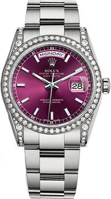 replique Montre Rolex Day-Date 36 Oyster Bracelet en or blanc 118389
