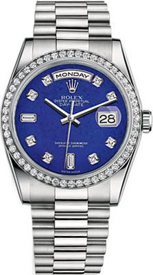 replique Montre Rolex Day-Date 36 Platine 118346