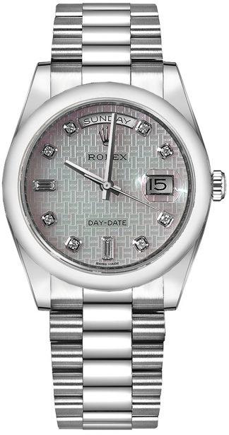 replique Montre Rolex Day-Date 36 Platine Nacre 118206