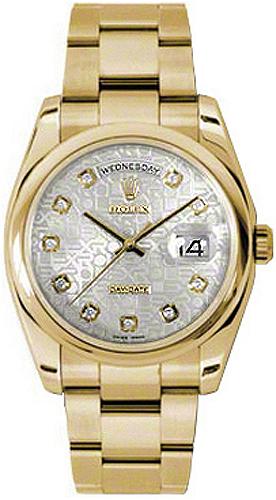 replique Montre Rolex Day-Date 36 Silver Diamond Jubilee 118208