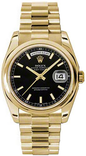replique Montre Rolex Day-Date 36 automatique en or massif 118208