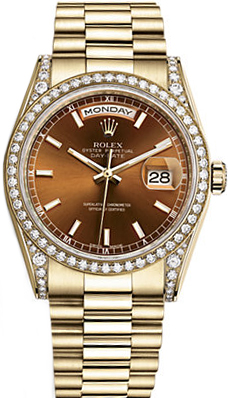 replique Montre Rolex Day-Date 36 automatique en or massif 118388