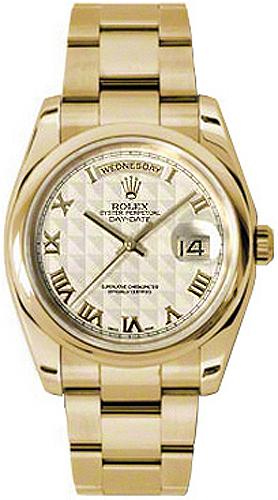 replique Montre Rolex Day-Date 36 cadran ivoire en or 118208
