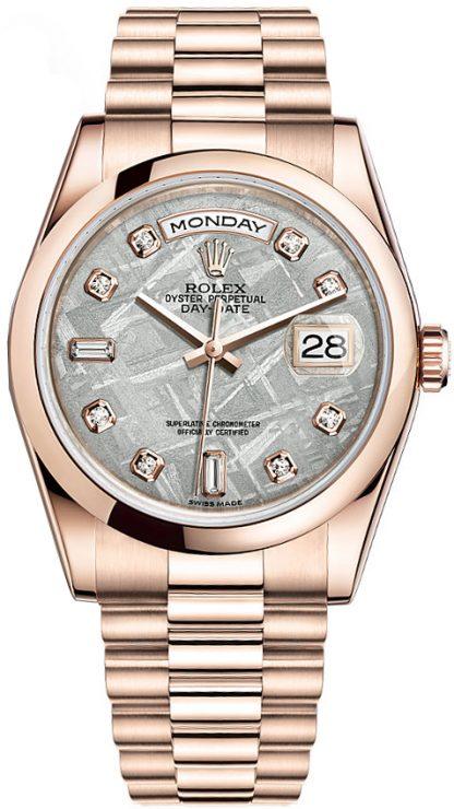 replique Montre Rolex Day-Date 36 diamants en or 118205