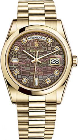 replique Montre Rolex Day-Date 36 diamants en or 118208