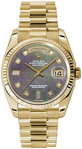 replique Montre Rolex Day-Date 36 diamants en or massif 118238