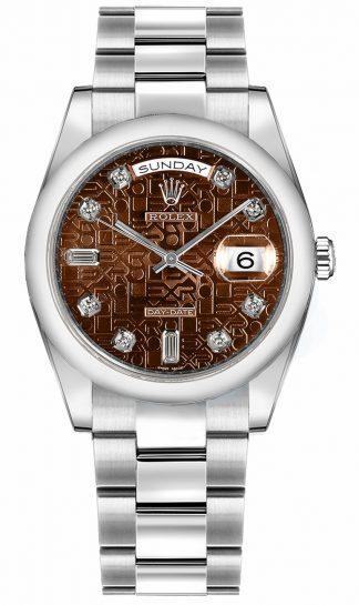 replique Montre Rolex Day-Date 36 en or blanc 118209