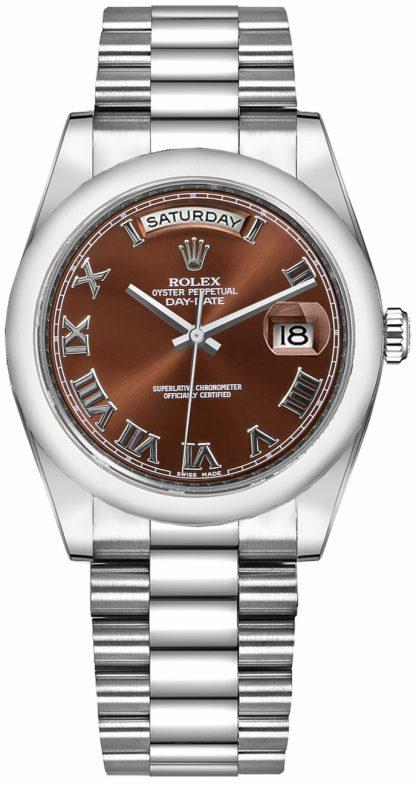 replique Montre Rolex Day-Date 36 en or blanc massif 118209