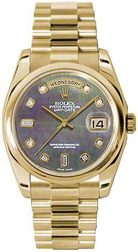 replique Montre Rolex Day-Date 36 en or jaune 118208