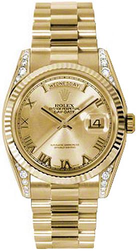 replique Montre Rolex Day-Date 36 en or jaune 118338