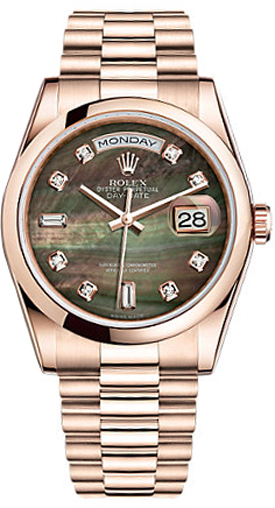 replique Montre Rolex Day-Date 36 en or massif 118205