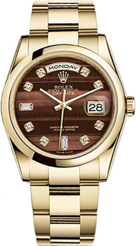 replique Montre Rolex Day-Date 36 en or massif 118208