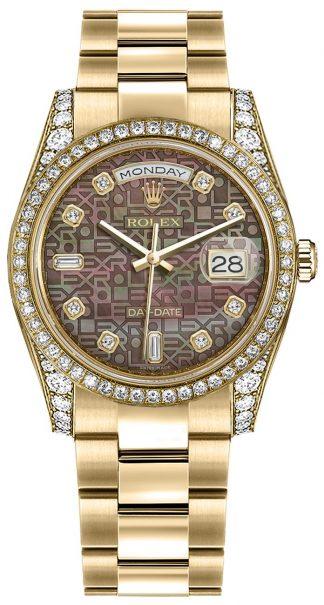 replique Montre Rolex Day-Date 36 en or massif 18 carats 118388