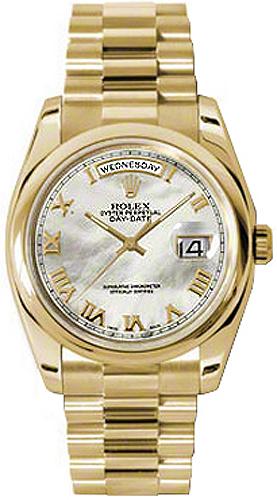 replique Montre Rolex Day-Date 36 en or nacré 118208