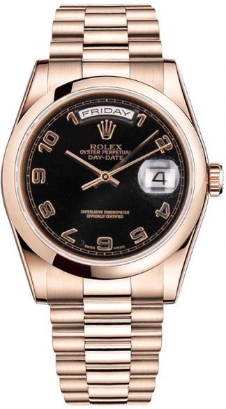 replique Montre Rolex Day-Date 36 en or rose 118205
