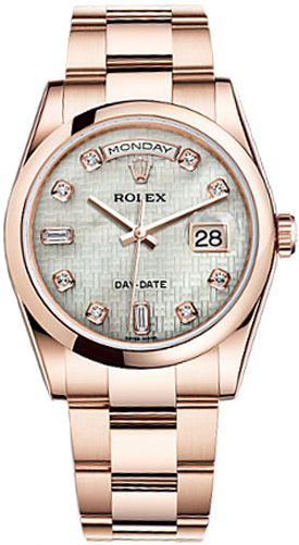 replique Montre Rolex Day-Date 36 nacre avec cadran diamant 118205
