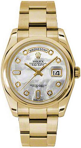 replique Montre Rolex Day-Date 36 nacre diamantée en or 118208