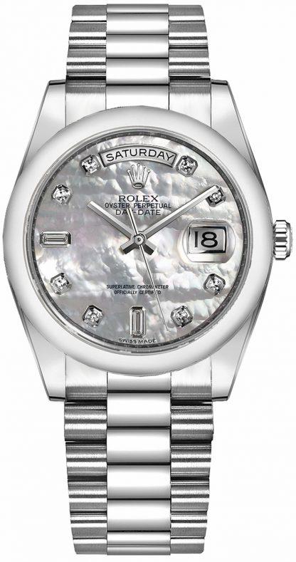 replique Montre Rolex Day-Date 36 nacre platine 118206