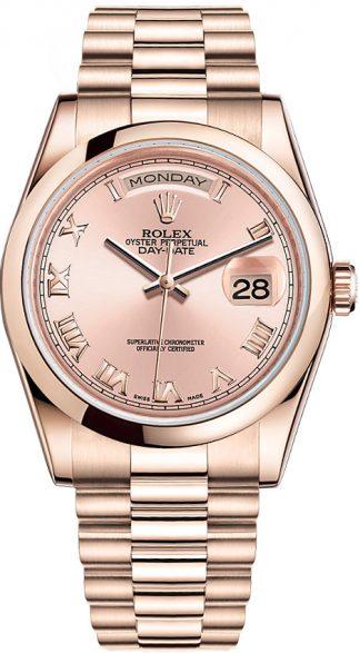 replique Montre Rolex Day-Date 36 pour homme en or 118205