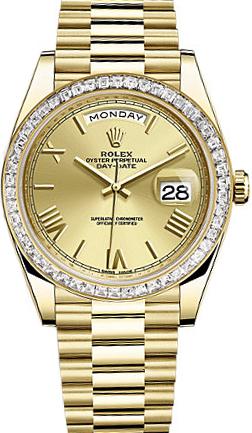 replique Montre Rolex Day-Date 40 pour homme en or massif 228398TBR
