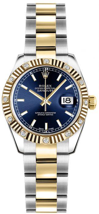 replique Montre Rolex Lady-Datejust 26 à cadran bleu 179313