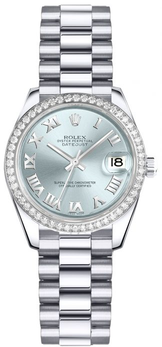 replique Montre Rolex Lady-Datejust 26 Ice Blue Dial 179136